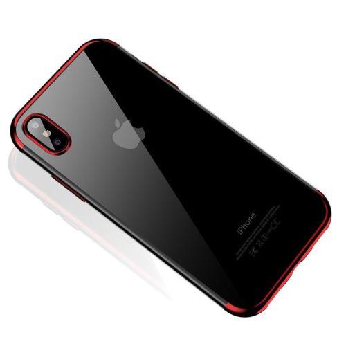 Štýlový silikónový kryt pre iPhone XS MAX v červenej farbe