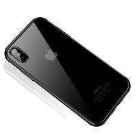 Štýlový silikónový kryt pre iPhone XS MAX v čiernej farbe
