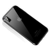 Štýlový silikónový kryt pre iPhone XS MAX v striebornej farbe