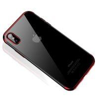 Štýlový silikónový kryt pre iPhone XS v červenej farbe