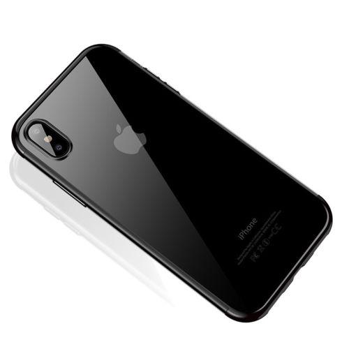 Štýlový silikónový kryt pre iPhone XS v čiernej farbe
