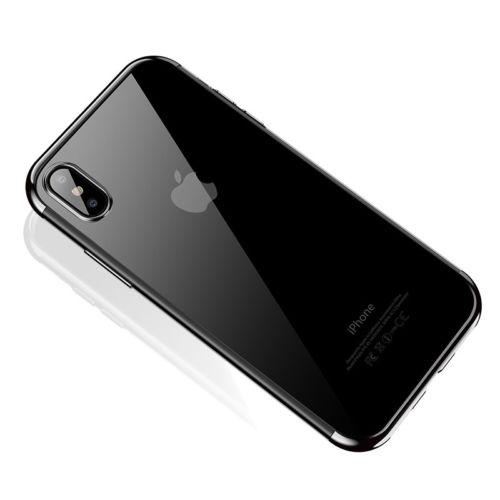 Štýlový silikónový kryt pre iPhone XS v striebornej farbe