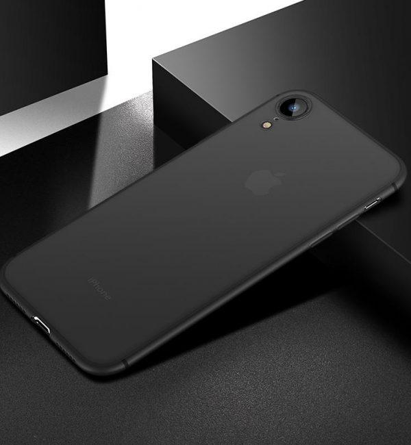 0.4mm Ultratenký kryt pre iPhone XR v šedej farbe