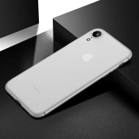 0.4mm Ultratenký kryt pre iPhone XR v bielej farbe