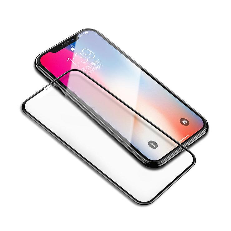 4D ochranné sklo pre iPhone XR s čiernym tenkým okrajom (1)