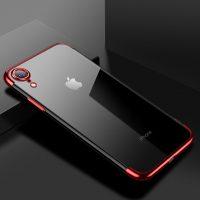 Tenký silikónový kryt pre iPhone XR v červenej farbe