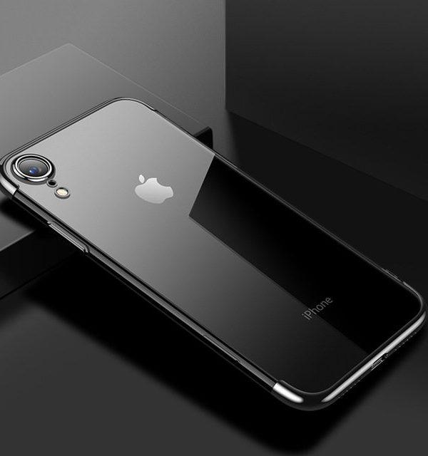 Tenký silikónový kryt pre iPhone XR v čiernej farbe