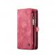 Peňaženka a magnetický obal na iPhone XR v červenej farbe (1)