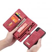 Peňaženka a magnetický obal na iPhone XR v červenej farbe (2)
