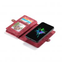 Peňaženka a magnetický obal na iPhone XR v červenej farbe (3)