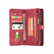 Peňaženka a magnetický obal na iPhone XR v červenej farbe (4)