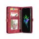 Peňaženka a magnetický obal na iPhone XR v červenej farbe (5)