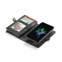 Peňaženka a magnetický obal na iPhone XR v čiernej farbe (2)