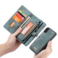 Peňaženka a magnetický obal na iPhone XR v zelenej farbe (2)