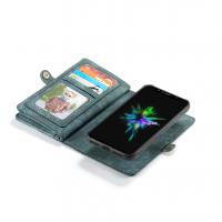 Peňaženka a magnetický obal na iPhone XR v zelenej farbe (3)