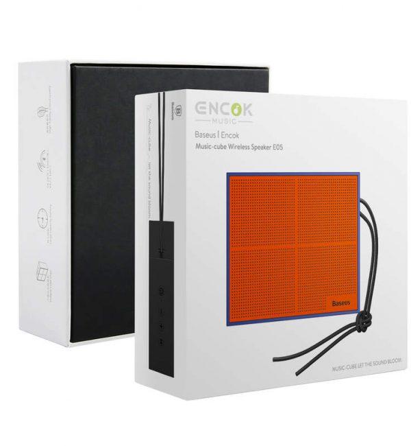 Baseus mini bluetooth reproduktor v oranžovej farbe