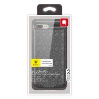 Dobíjací obal BASEUS na iPhone 7 Plus, 8 Plus, v čiernej farbe, 3650 mAh