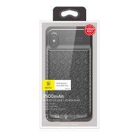 Dobíjací obal BASEUS na iPhone X, v čiernej farbe, 3500 mAh-