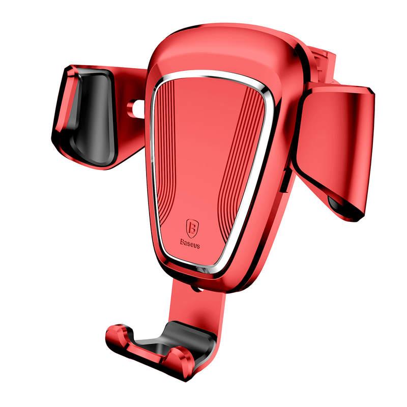 Gravitačný držiak do ventilátora automobilu BASEUS v červenej farbe