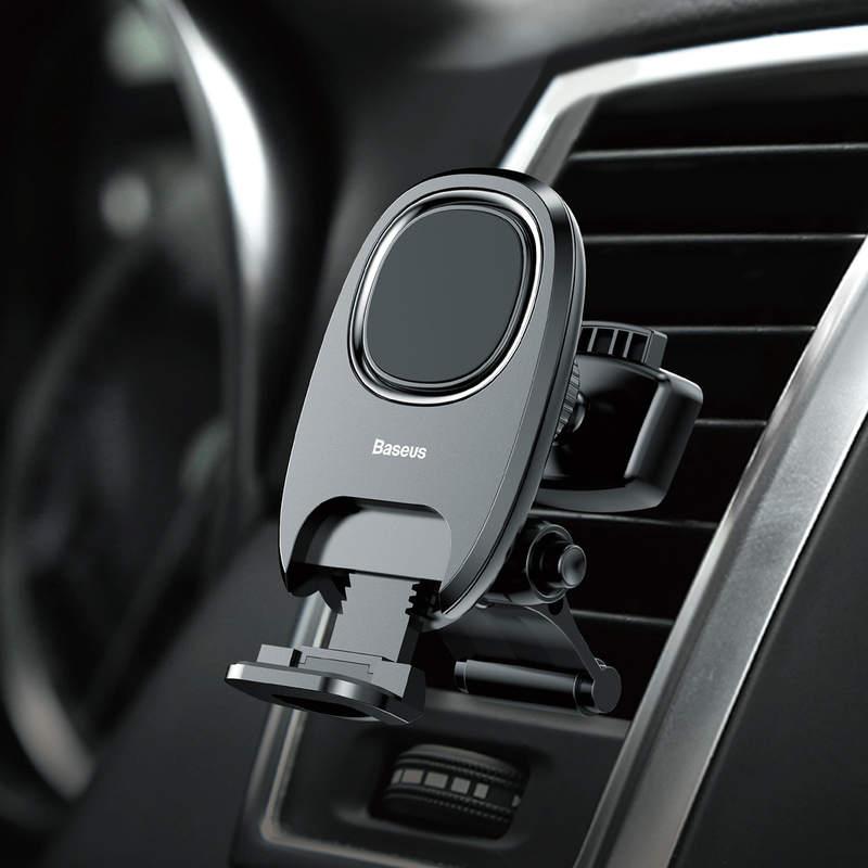 Magnetický stojan do ventilátora auta s nožičkou v čiernej farbe