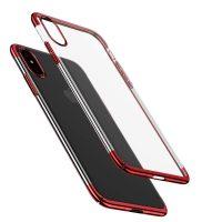 Ochranný kryt Baseus pre iPhone X vyrobený z pružného plastu v červenej farbe-