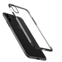 Ochranný kryt Baseus pre iPhone X vyrobený z pružného plastu v čiernej farbe--