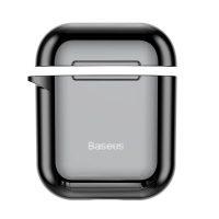Ochranný obal BASEUS pre Apple Airpods v lesklej čiernej farbe