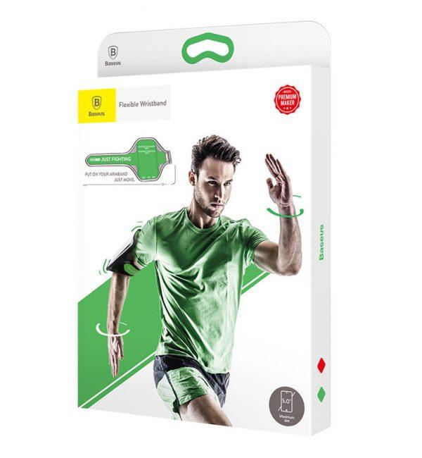 Púzdro na behanie pre mobilné telefóny do 5.0 palcov, zelená farba