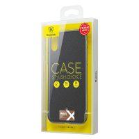 Štýlový plastový kryt pre iPhone X v čiernej farbe. Kryt vyrobený