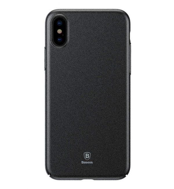 Štýlový plastový kryt pre iPhone X v čiernej farbe. Kryt vyrobený z matného plastového materiálu, ktorý je odolný voči poškriabaniu.
