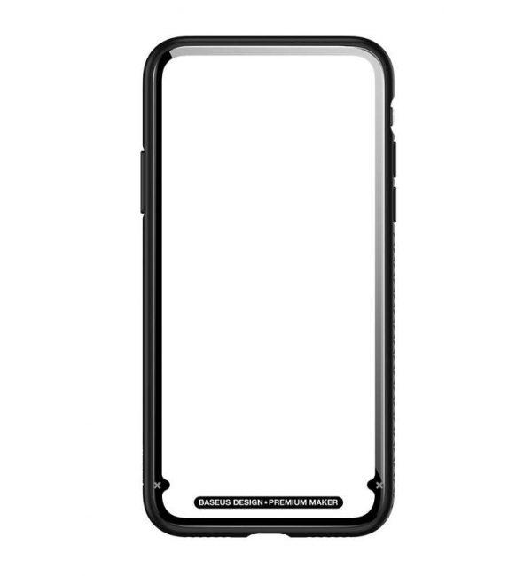 Sklenený odolný obal pre iPhone X v čiernej farbe-
