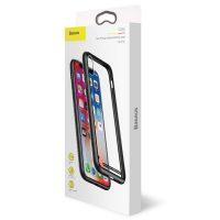 Sklenený odolný obal pre iPhone X v čiernej farbe