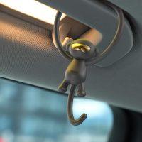 Osviežovač vzduchu Baseus Monkey Car Fresh v čiernej farbe (2)