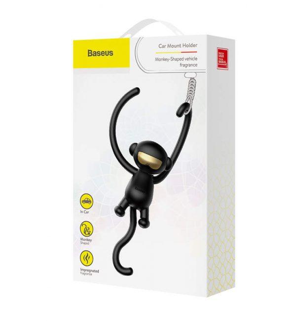 Osviežovač vzduchu Baseus Monkey Car Fresh v čiernej farbe (4)