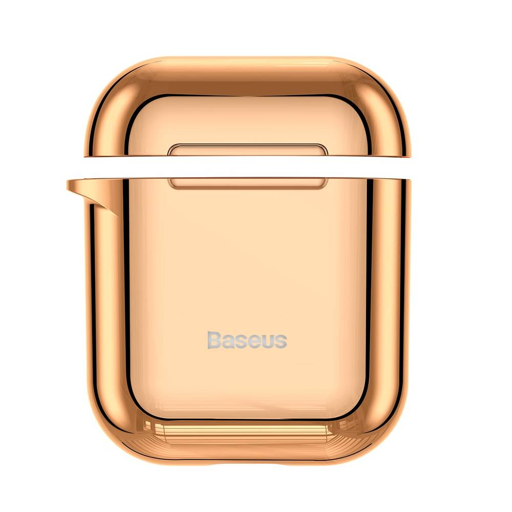 Ochranný obal BASEUS pre Apple Airpods v lesklej zlatej farbe