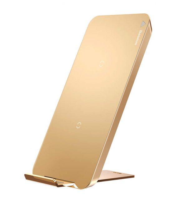 QI bezdrôtová nabíjačka na smartfóny, Baseus, zlatá farba