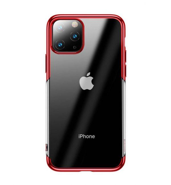 Ochranný silikónový obal pre iPhone 11 Pro v lesklej červenej farbe.