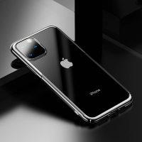 Ochranný tvrdý obal pre iPhone 11 Pro v lesklej striebornej farbe. Obal tvorí tvrdý polyuretán, ktorý je odolné voči poškriabaniu.