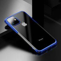 Ochranný tvrdý obal pre iPhone 11 v lesklej modrej farbe. Obal tvorí tvrdý polyuretán, ktorý je odolné voči poškriabaniu.