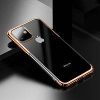 Ochranný tvrdý obal pre iPhone 11 v lesklej zlatej farbe. Obal tvorí tvrdý polyuretán, ktorý je odolné voči poškriabaniu a prachu.,