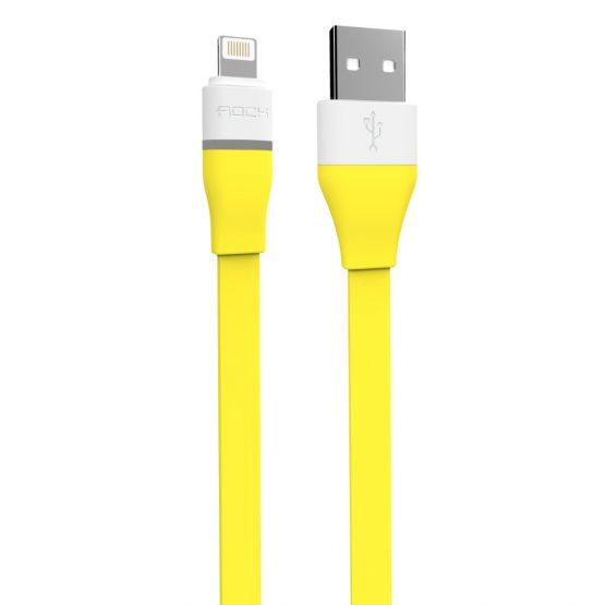 LED Lightning kábel pre Apple, 100cm, automatické odpojenie, žltá farba