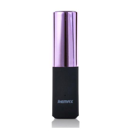 Remax Lipstick 2400mAh Powerbank v ružovej farbe