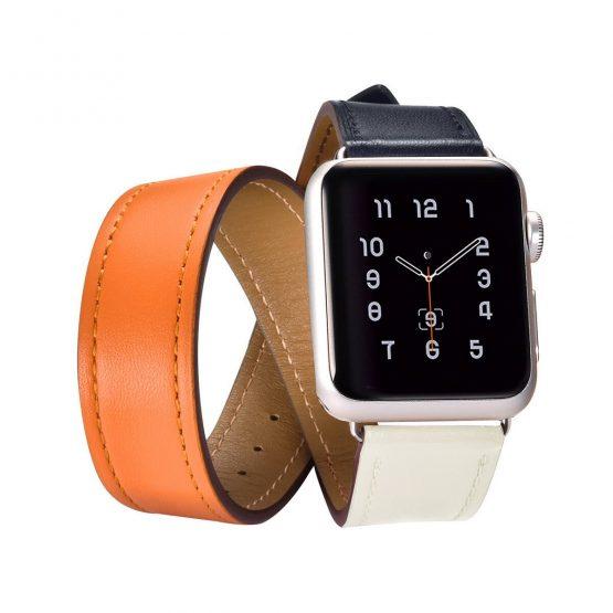 Kožený náramok pre Apple Watch iCarer, Hermes, Hovädzia koža