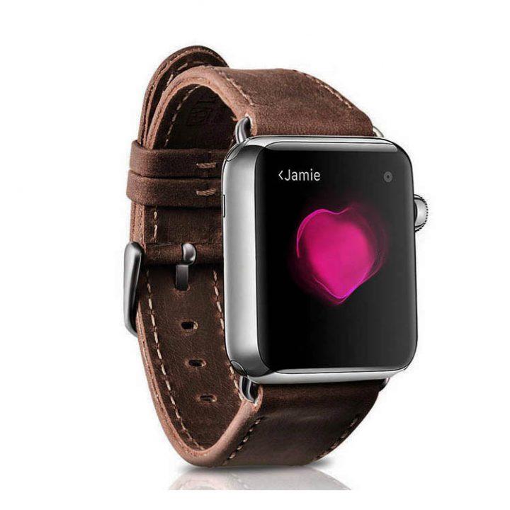 Kožený remienok pre Apple Watch iCarer, Hovädzia koža, Crazy horse