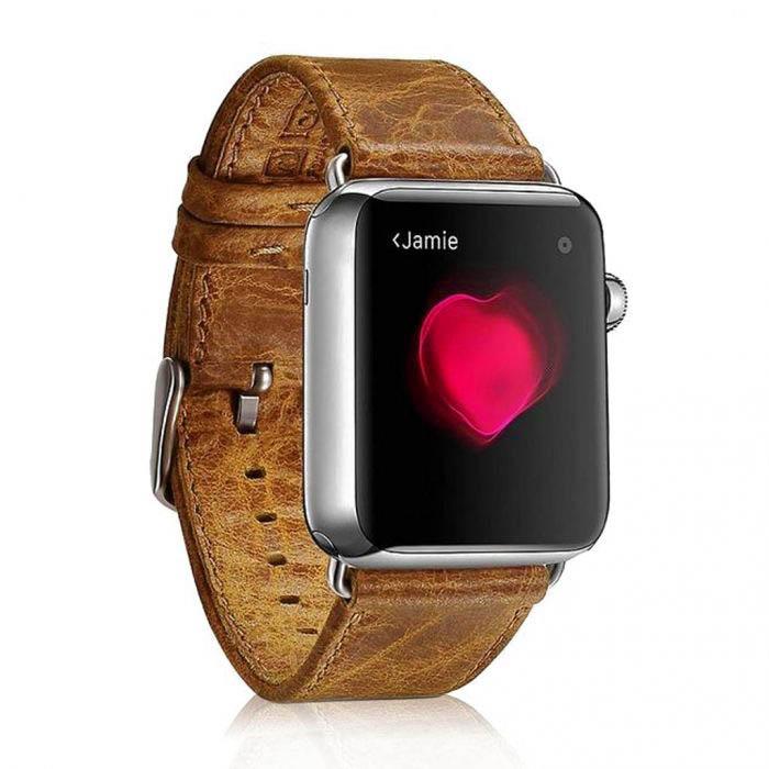 Kožený remienok pre Apple Watch iCarer, Hovädzia koža, Leather Series