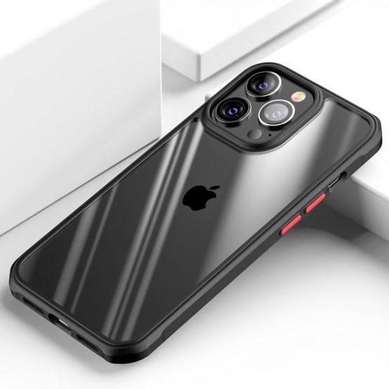Kvalitné nárazuvzdorné púzdro pre iPhone 13 Pro v čiernej farbe