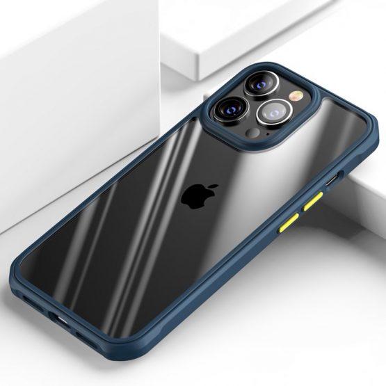 Kvalitné nárazuvzdorné púzdro pre iPhone 13 Pro v modrej farbe