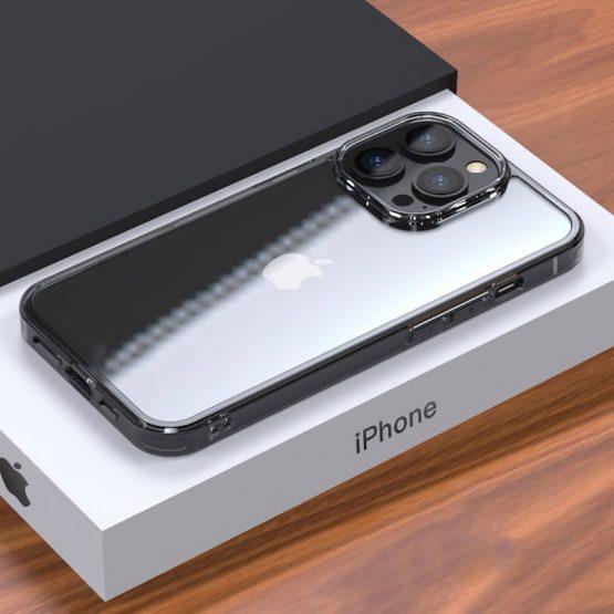 Sklenený štýlový kryt pre iPhone 13 Pro, transparentný