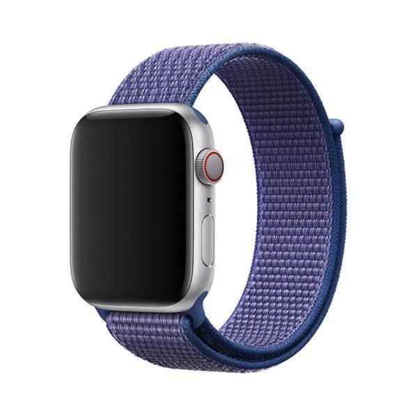 Remienok pre Apple Watch, Nylon, 38mm / 40mm, Modro-fialový