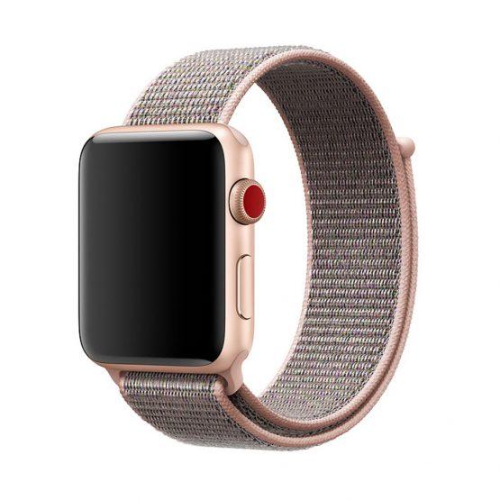 Remienok pre Apple Watch, Nylon, 42mm / 44mm, Ružový